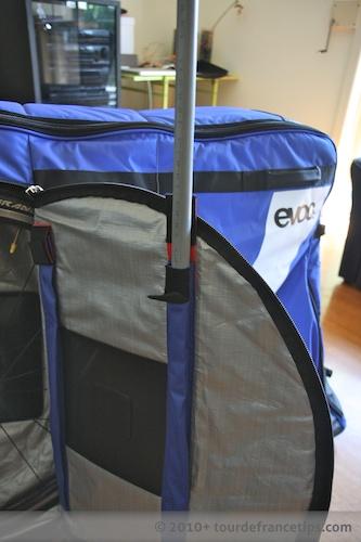 EVOC Bike Travel Bag Review: Plastic braces