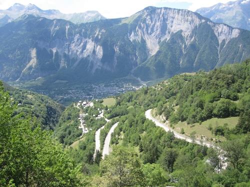 View down toward dOisans