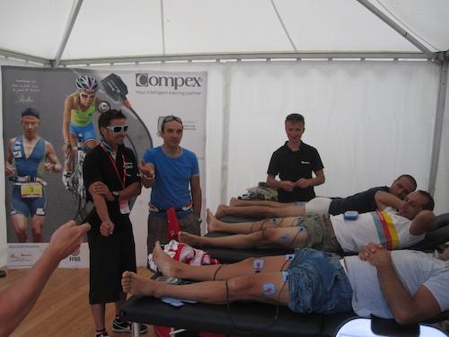 Pre Etape electroshock leg therapy