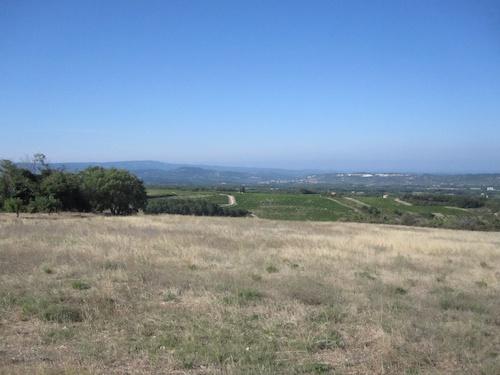 View over the valley toward Orange