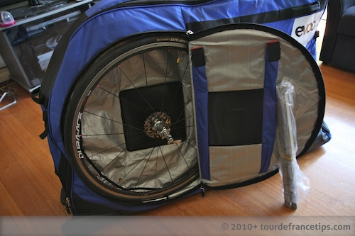 EVOC Bike Travel Bag Review: Wheel compartments