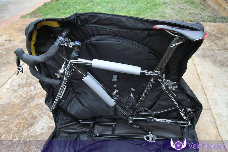 Scicon Aerocomfort 2 TSA bike bag review: foam frame protectors