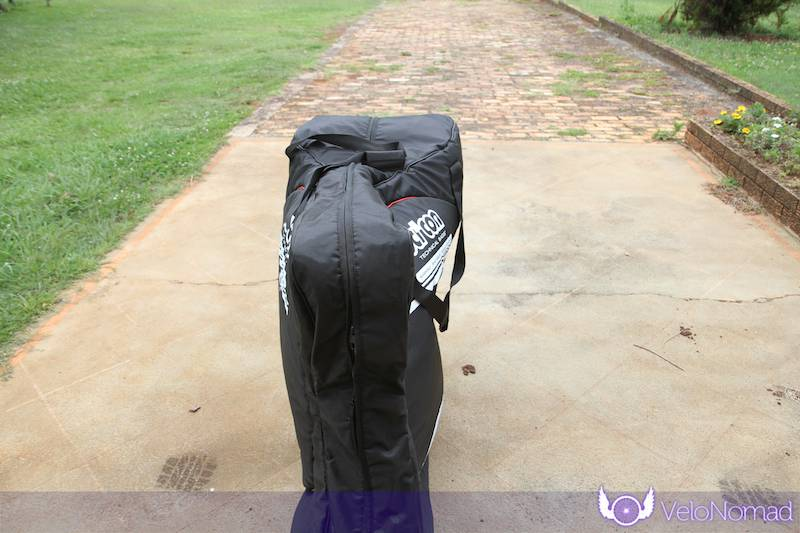 Scicon Aerocomfort 2 TSA bike bag review: size of bag